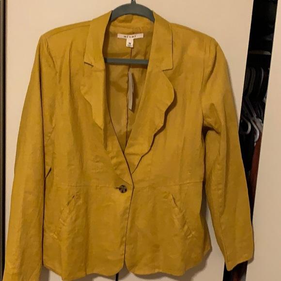 miami Jackets & Blazers - Never worn mustard linen blazer